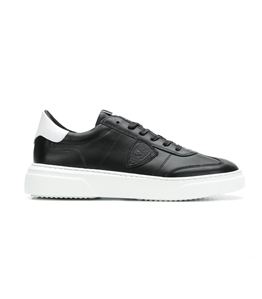 Philippe Model - Scarpe - Sneakers - temple - veau noir blanc