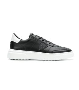 Philippe Model - Scarpe - Sneakers - temple - veau noir blanc