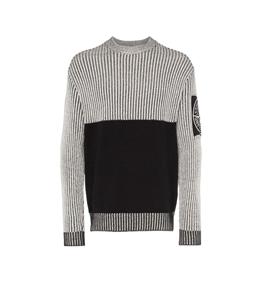 Stone Island - Maglie - maglia in filati di cotone nera