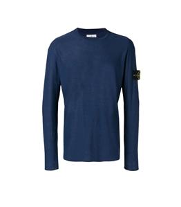Stone Island - Maglie - maglia girocollo blu marine