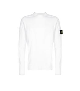 Stone Island - Maglie - maglia girocollo in cotone bianca