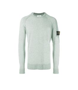 Stone Island - Maglie - maglia girocollo in lino salvia