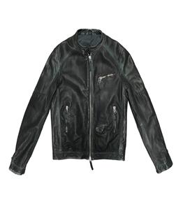 The Jack Leathers - Giubbotti - bandit leather jacket verde