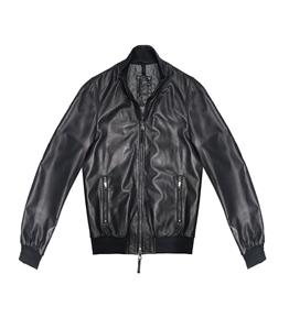 The Jack Leathers - Saldi - derek rib leather jacket blu