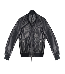 The Jack Leathers - Saldi - derek rib leather jacket blu
