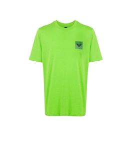 Emporio Armani - T-Shirt - t-shirt con applicazione verde fluo