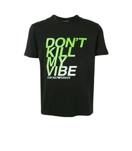 Emporio Armani - T-Shirt - t-shirt don't kill my vibe nero
