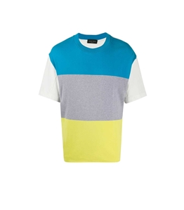 Roberto Collina - Maglie - t-shirt cotone color-block