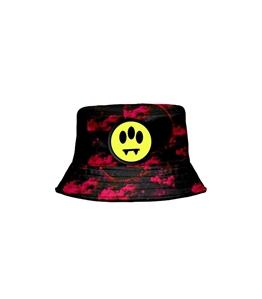 Barrow - Cappelli - bucket hat nero-rosso