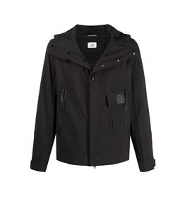 C.P. COMPANY - Giubbotti - giacca con zip e cappuccio nera