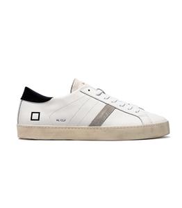 D.A.T.E. - Scarpe - Sneakers - hill low calf bianca-nera