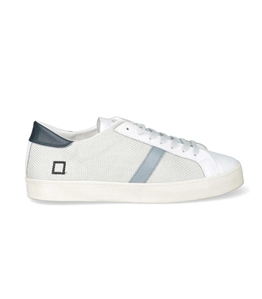 D.A.T.E. - Scarpe - Sneakers - hill low perf.white-blue
