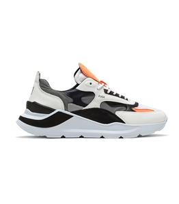D.A.T.E. - Scarpe - Sneakers - fuga nylon reflex bianca-arancio