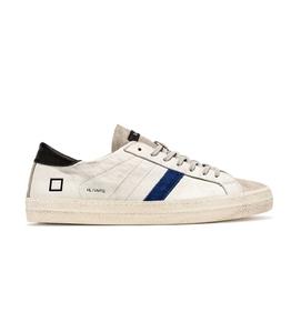 D.A.T.E. - Scarpe - Sneakers - hill low vintage calf bianco-blu