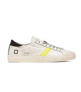 D.A.T.E. - Scarpe - Sneakers - hill low vintage calf giallo-turchese