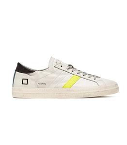 D.A.T.E. - Scarpe - Sneakers - hill low vintage calf giallo-turchese