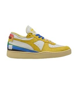 Diadora Heritage - Scarpe - Sneakers - mi basket row cut denver 55 bianche gialle