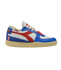 Diadora Heritage - Scarpe - Sneakers - mi basket row cut philly 6 bianche azzurre
