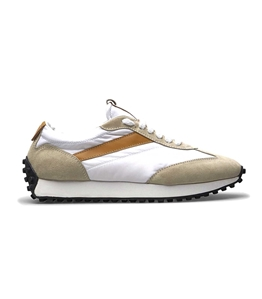 Doucal's - Scarpe - Sneakers - sneakers in tessuto tecnico e suede color cuoio