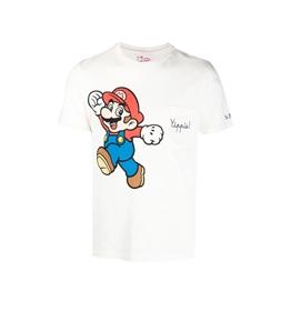"Mc2 Saint Barth - T-Shirt - t-shirt bianca super mario ""yippie"""