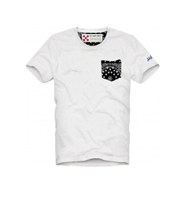 Mc2 Saint Barth - T-Shirt - t-shirt con taschino stampa micro bandana nero