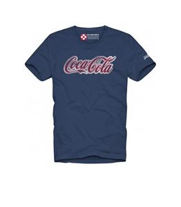 Mc2 Saint Barth - T-Shirt - t-shirt blu navy stampa coca cola