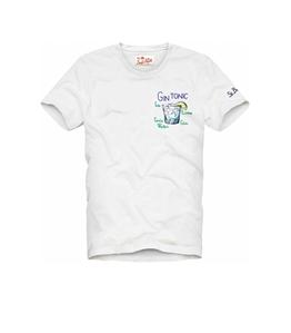 Mc2 Saint Barth - T-Shirt - tshirt ricamata gin tonic