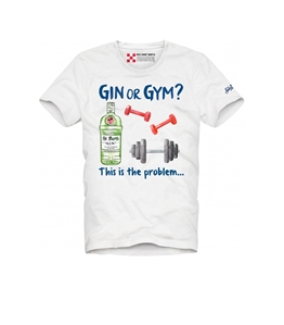 "Mc2 Saint Barth - T-Shirt - tshirt stampa ""gin or gym"""