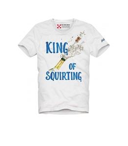 "Mc2 Saint Barth - T-Shirt - t shirt bianca stampa ""king of squirting"""