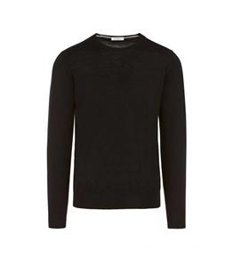 Paolo Pecora - Maglie - maglia seta girocollo nera