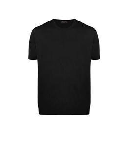 Roberto Collina - Maglie - maglia scollo rotondo nera