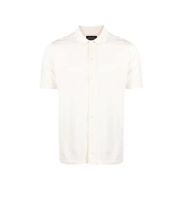 Roberto Collina - Maglie - maglia camicia fine bianco latte