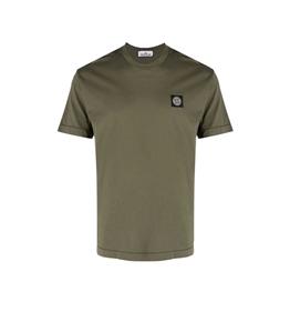 Stone Island - T-Shirt - tshirt jersey verde oliva