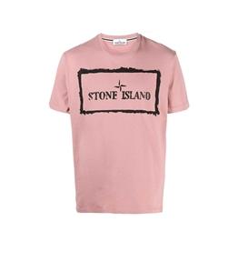 Stone Island - T-Shirt - tshirt stencil one rosa quarzo