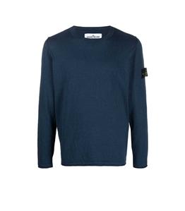 Stone Island - Maglie - maglia in cotone delavé blu