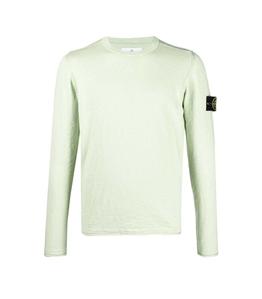 Stone Island - Maglie - maglia in cotone delavé verde chiaro