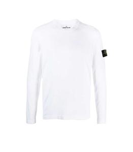 Stone Island - Maglie - maglia cotone crêpe bianca