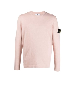 Stone Island - Maglie - maglia cotone crêpe rosa