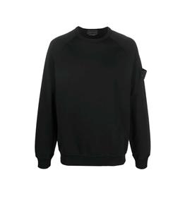 Stone Island - Felpe - ghost piece cotton stretch fleece nera