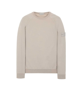 Stone Island - Felpe - ghost piece cotton stretch fleece beige