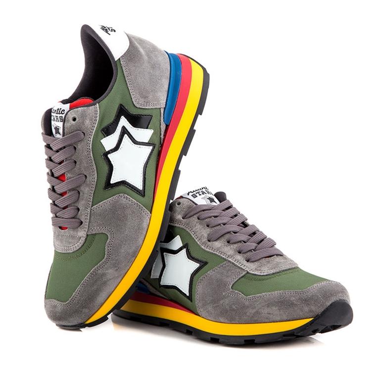 Atlantic Stars - Scarpe - Sneakers - sneakers antares in suede cement ivy 1