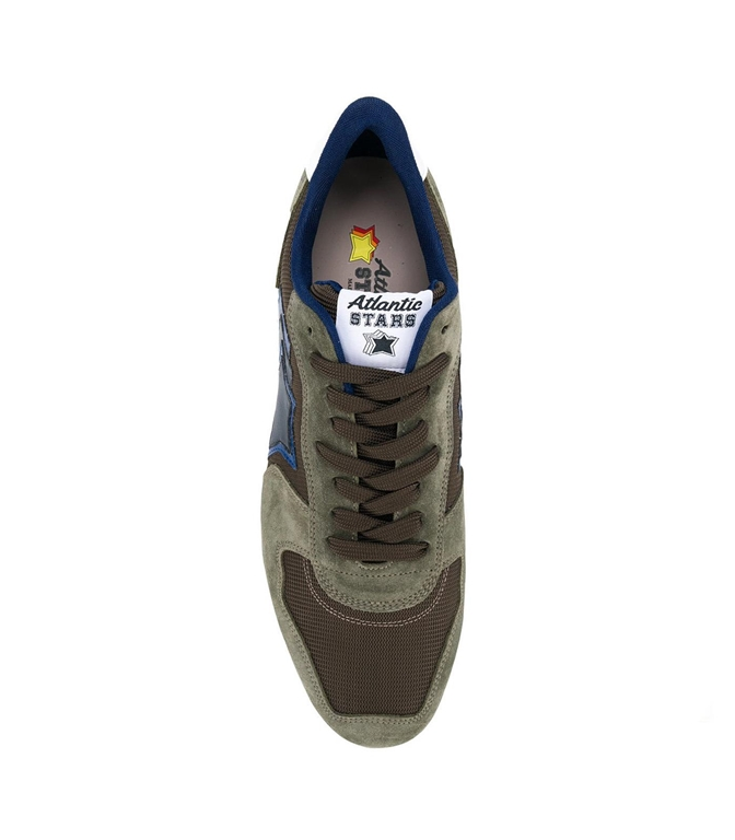 Atlantic Stars - Scarpe - Sneakers - sneakers antares in suede military aloe 1