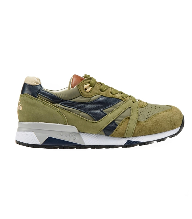 Diadora Heritage - Scarpe - Sneakers - N9000 H ITA VERDE OLIVA BRUCIATO/MARRONE TABACCO