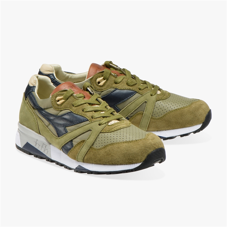 Diadora Heritage - Scarpe - Sneakers - n9000 h ita verde oliva bruciato/marrone tabacco 1
