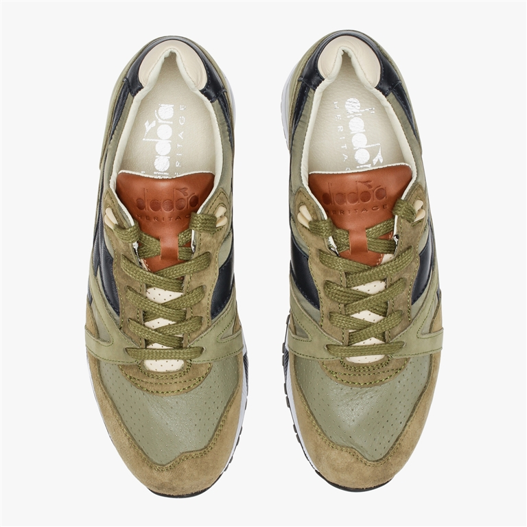 Diadora Heritage - Scarpe - Sneakers - n9000 h ita verde oliva bruciato/marrone tabacco 2