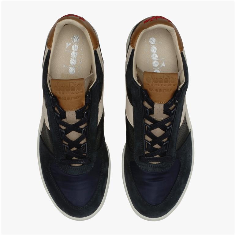 Diadora Heritage - Scarpe - Sneakers - b.elite ita 2 blu profondo/marrone tabacco 2