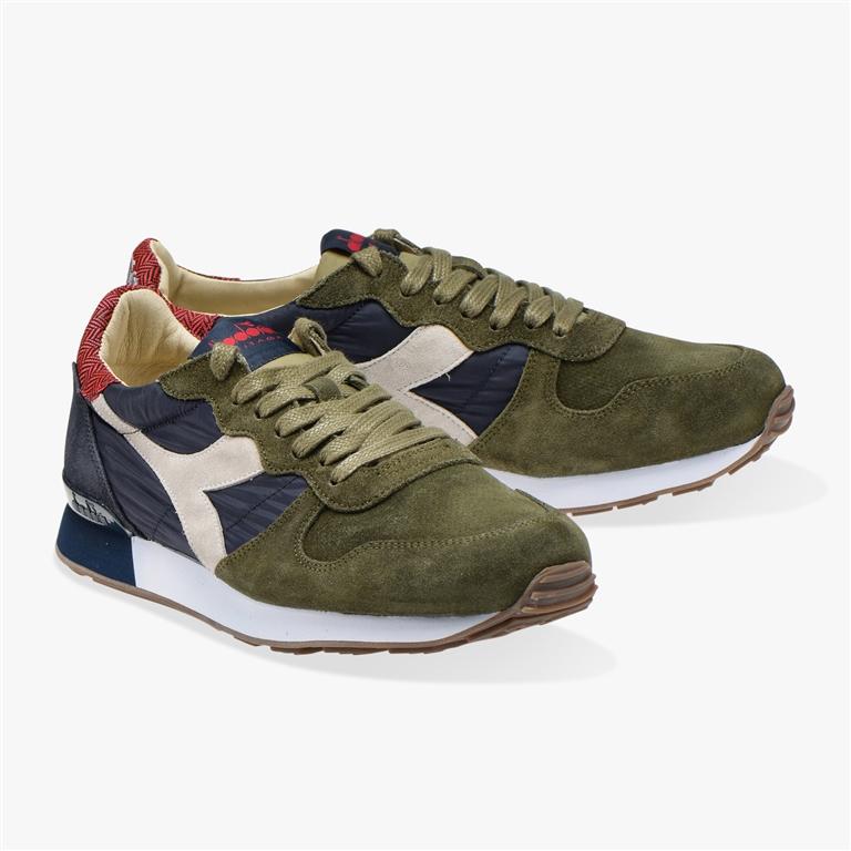 Diadora Heritage - Scarpe - Sneakers - camaro h s sw verde oliva/blu profondo 1