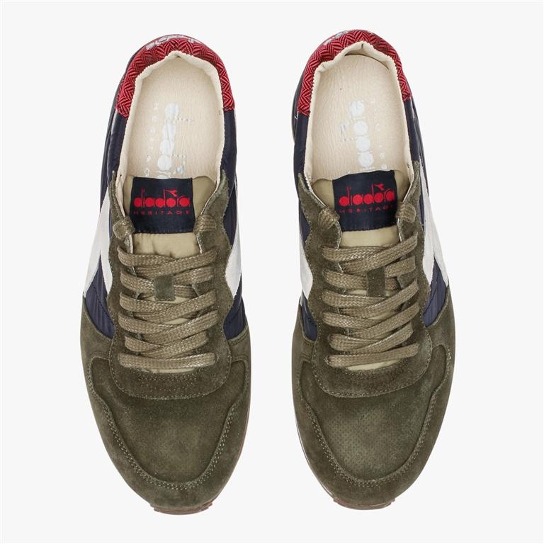Diadora Heritage - Scarpe - Sneakers - camaro h s sw verde oliva/blu profondo 2