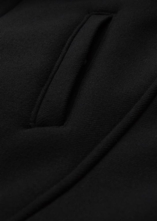 Emporio Armani - Giubbotti - parka in panno con cappuccio e interno foderato blu scuro 2