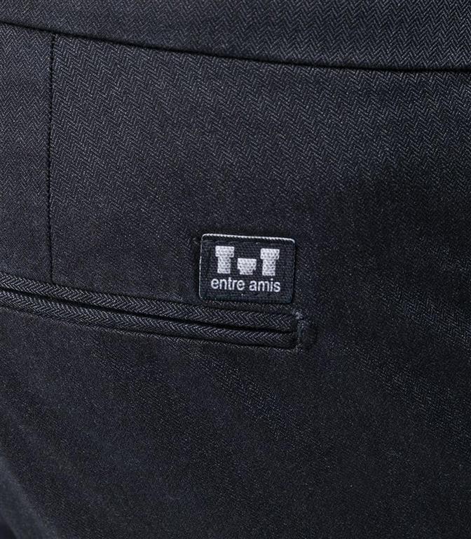 Entre Amis - Pantaloni - pantalone tasca america in cotone corto blu notte 1